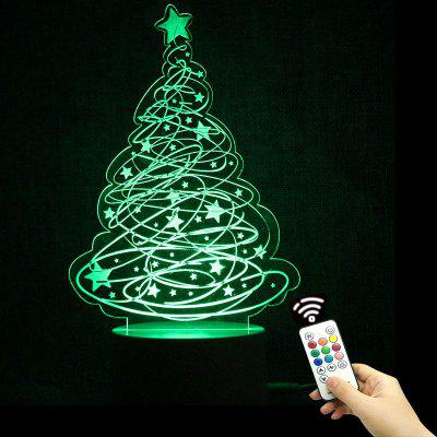 Christmas Tree and Stars Shape Color Change Remote Control Night Light