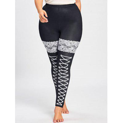 Plus Size Monochrome Leggings