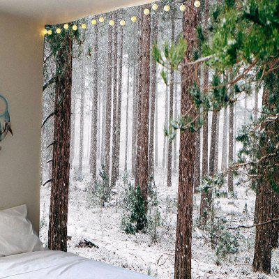 Forest Snow Pattern Waterproof Wall Hanging Tapestry