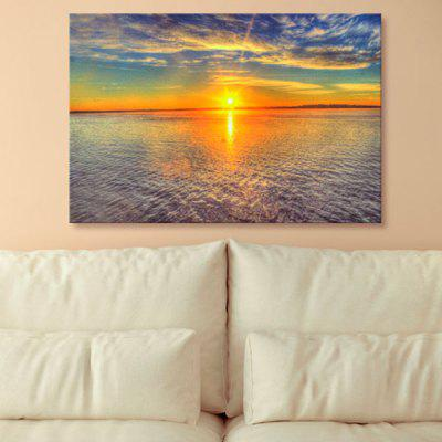 Sea Sunset Print Wall Art Canvas Painting