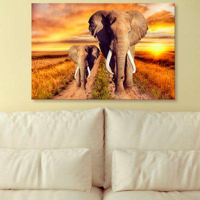 Elephant Print Wall Art Canvas Painting