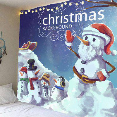 Christmas Multi Snowmans Pattern Waterproof Wall Hanging Tapestry