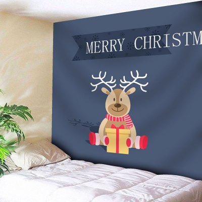 Christmas Deer Print Bedroom Tapestry