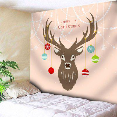 Christmas Deer Ball Wall Tapestry