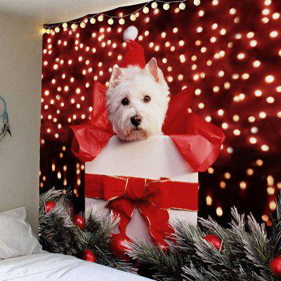 Christmas Dog Printed Waterproof Wall Hanging Tapestry