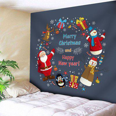 Santa Claus Wall Decor Christmas Tapestry