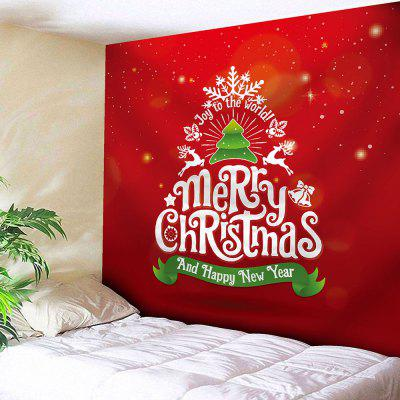 Christmas Tree Letter Print Wall Tapestry