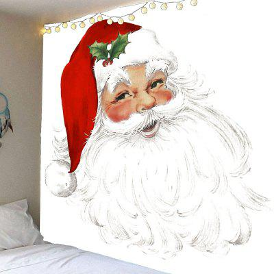 Smile at Santa Claus Pattern Waterproof Wall Hanging Tapestry