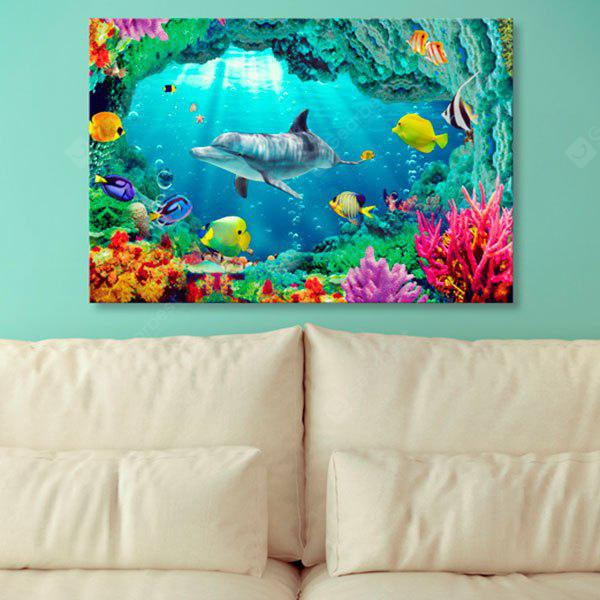 Wall Art Sea World Dolphin Print Canvas Painting