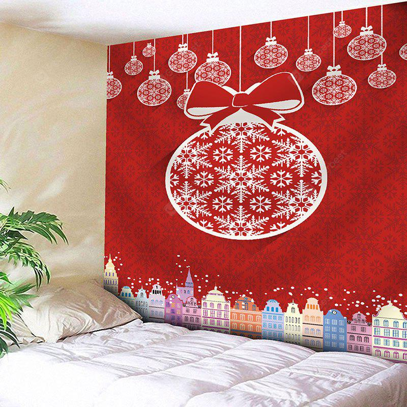Christmas Ball Building Wall Tapestry