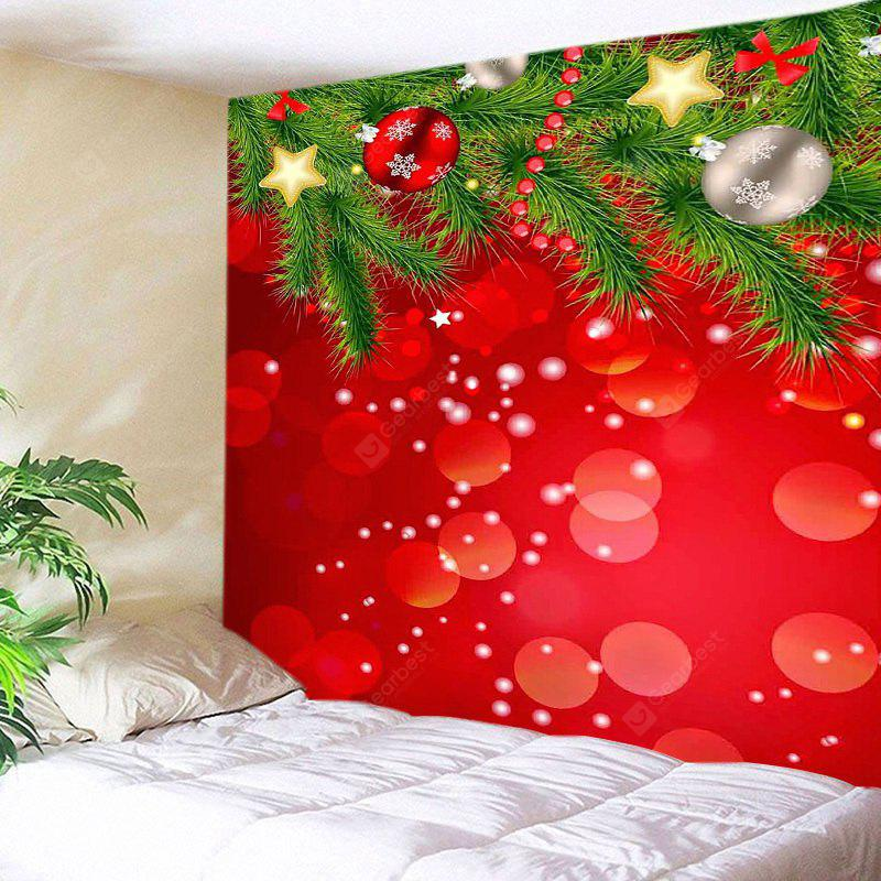 Wall Hanging Art Christmas Tree Baubles Print Tapestry