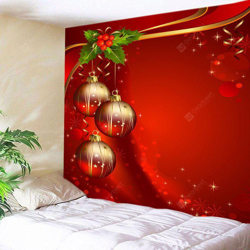 Wall Hanging Decoration Christmas Baubles Print Tapestry