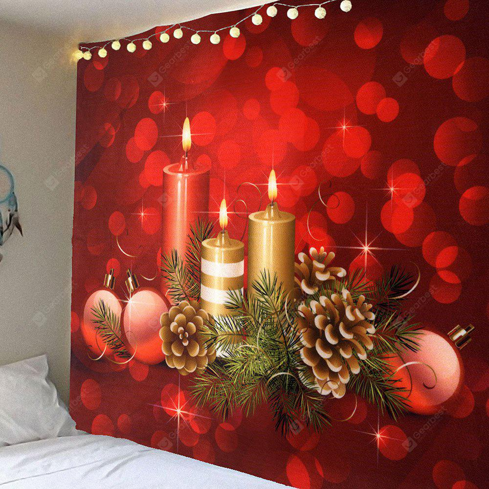 Romantic Candle Pattern Waterproof Wall Hanging Tapestry