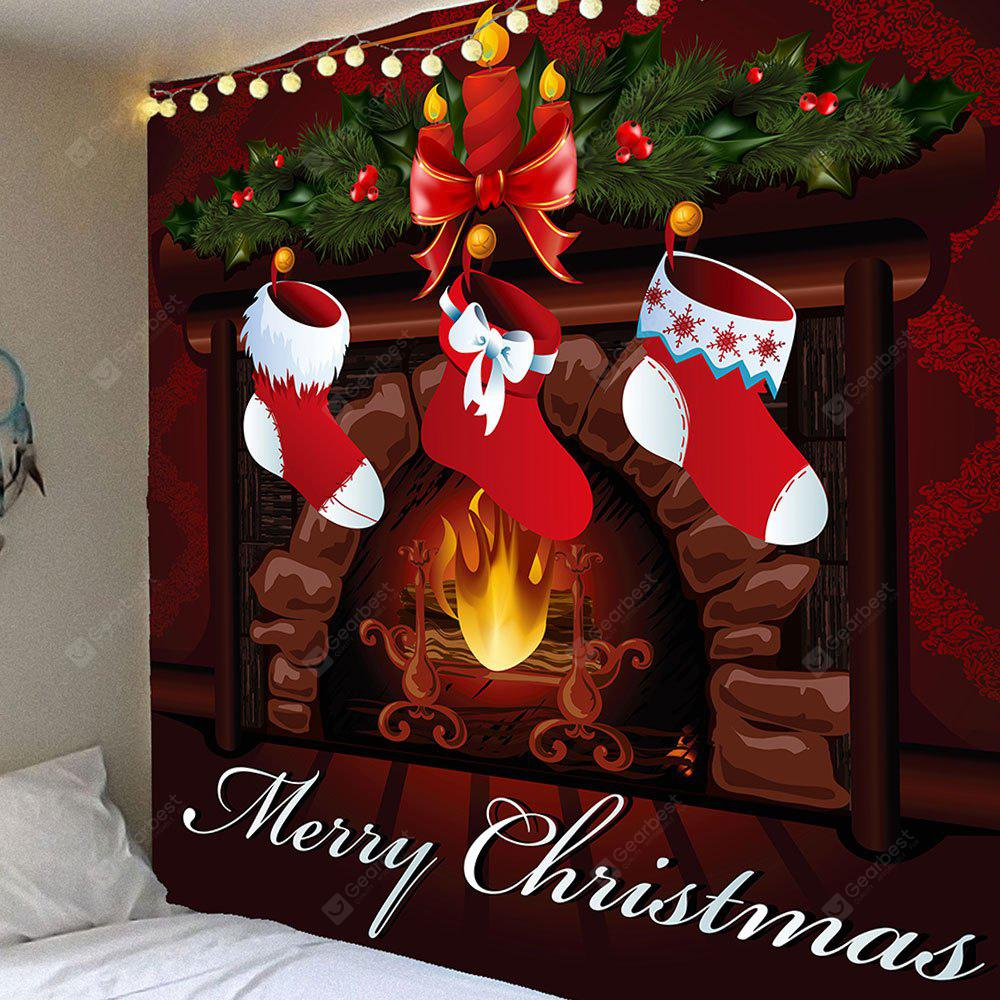 Christmas Stockings Pattern Waterproof Wall Hanging Tapestry