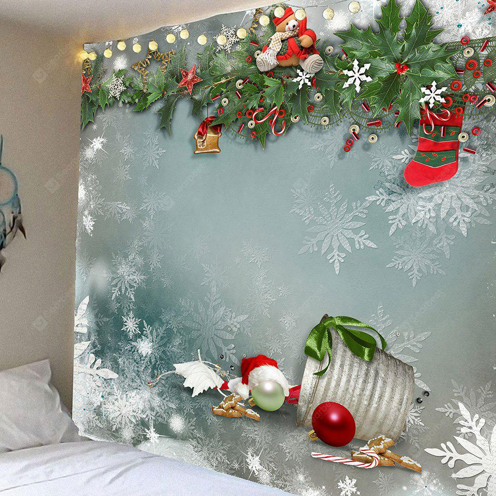 Christmas Graphic Pattern Waterproof Wall Hanging Tapestry