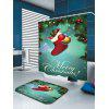 Merry Christmas Socks Patterned Bath Curtain - COLORFUL