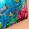 Wall Art Sea World Dolphin Print Canvas Painting - BLUE