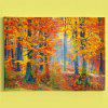 Forest Tree Scenery Print Canvas Wall Art Painting - MAPLE LEAF