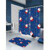 Falling Snowflakes Santa Claus Printed Bath Curtain - COLORFUL
