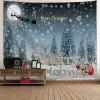 Christmas Snow Night Sled Wall Tapestry - COLORMIX