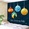 Wall Hanging Christmas Ball Tapestry - BLUE