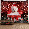 Christmas Dog Printed Waterproof Wall Hanging Tapestry - COLORFUL