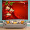 Wall Hanging Decoration Christmas Baubles Print Tapestry - RED