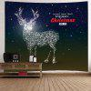 Wall Hanging Art Christmas Galaxy Deer Print Tapestry - DEEP BLUE