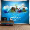 Christmas Graphic Wall Art Tapestry - BLUE