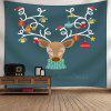 Wall Decor Christmas Deer Tapestry - COLORMIX