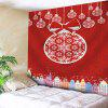 Christmas Ball Building Wall Tapestry - RED