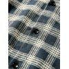 Colar Turndown Collar Vintage Checked - AZUL