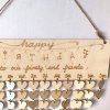 Family And Friends Birthday Calendar DIY Wooden Reminder Board - HEART