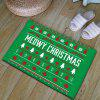 Christmas Tree Antislip Thicken Flannel Bath Rug - GREEN