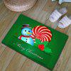 Christmas Snowman Thickening Flannel Area Rug - GREEN