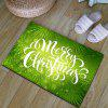 Flannel Thickening Christmas Letter Print Rug - GREEN