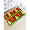 Flannel Thickening Christmas Tree Bath Rug - RED AND GREEN