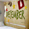 Waterproof Christmas Decorations Patterned Wall Art Tapestry - COLORFUL