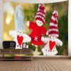 Christmas Snowmen Ornaments Patterned Wall Art Tapestry - COLORFUL