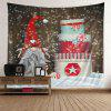 Christmas Birthday Cake Patterned Wall Decor Tapestry - COLORFUL