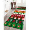 Flannel Thin Christmas Graphic Antiskid Mat - COLORMIX