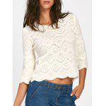 Bell Sleeve Hollow Out Sweater - BEIGE