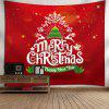 Christmas Tree Letter Print Wall Tapestry - RED
