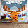 Christmas Cartoon Deer Wall Tapestry - COLORMIX