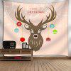 Christmas Deer Ball Wall Tapestry - NUDE PINK