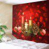 Romantic Candle Pattern Waterproof Wall Hanging Tapestry - RED