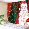 Waterproof Santa Claus and Christmas Tree Printed Wall Art Tapestry - COLORFUL