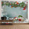 Christmas Graphic Pattern Waterproof Wall Hanging Tapestry - COLORFUL