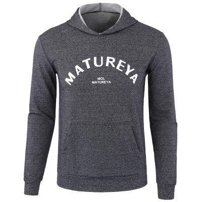 Buy DEEP GRAY Casual Graphic Print Pullover Hoodie for $20.48 in GearBest store