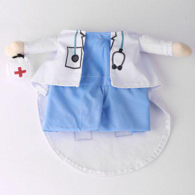 Pet Cat Dog Doctor Costume Cosplay Party Change Clothes